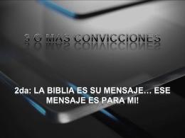 3 O MAS CONVICCIONES