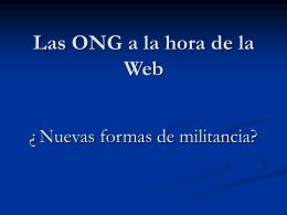 II- Internet: una oportunidad para las ONG
