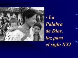 LA PALABRA DE DIOS PARA EL SIGLO XXI