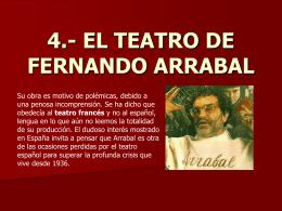 4.- EL TEATRO DE FERNANDO ARRABAL