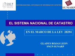 El Sistema Nacional de Catastro