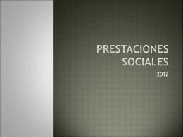 PRESTACIONES SOCIALES - contableyjuridico