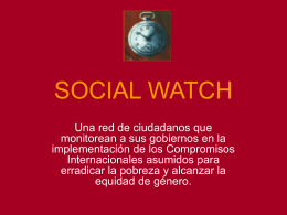SOCIAL WATCH - OECD.org