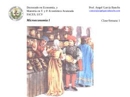 Clase 1 Microeconomia I