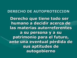 DERECHO DE AUTOPROTECCION