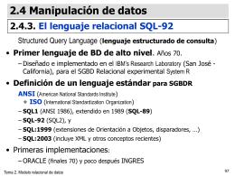 EL MODELO RELACIONAL DE DATOS