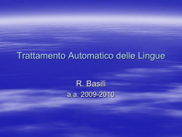 Fondamenti di Informatica 1 - ART: Artificial Intelligence