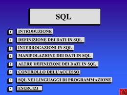 SQL - Dipartimento di Informatica
