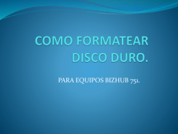 COMO FORMATEAR DISCO DURO.