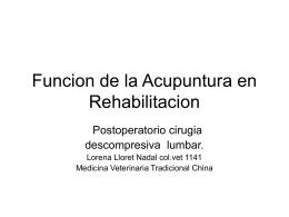 Acupuntura en Rehabilitacion