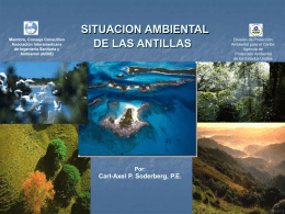 ENVIRONMENTAL PROFILE OF THE CARIBBEAN ANTILLES