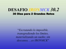 DESAFIO IRONMCK 30.2