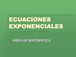 ECUACIONES EXPONENCIALES - pesolis