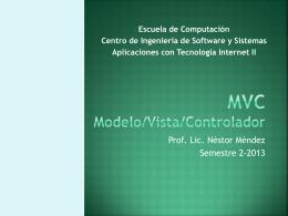 MVC Modelo/Vista/Controlador