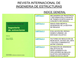 REVISTA INTERNACIONAL DE INGENIERIA DE ESTRUCTURAS