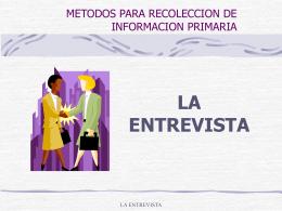 METODOS PARA RECOLECCION DE INFORMACION …