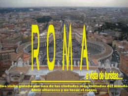 ROMA a vista de turistas...-