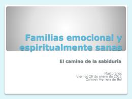 Familias emocional y espiritualmente sanas