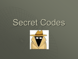 Secret Codes - detmar12-13