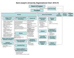 Saint Joseph's University Organizational Chart 2006-2007