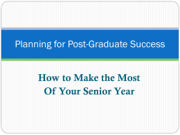 Planning for post-graduate success:
