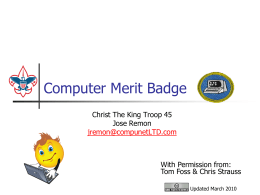Computer Merit Badge - U. S . Scouting Service