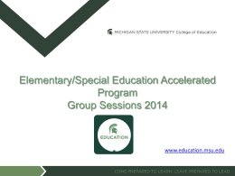 MSU College of Education Power Point Template