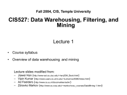 Data Mining: Concepts and Techniques — Slides for …