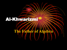 Al - Khwarizmi