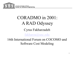 CORADMO: A Software Cost Estimation Model for RAD …