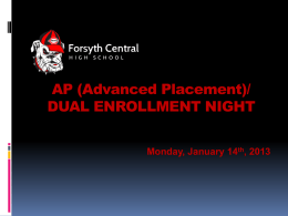 Advanced Placement - Forsyth County Schools