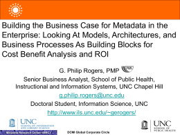 Building the Business Case for Metadata in the Enterprise
