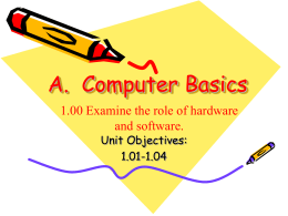 Unit I: Computer Basics