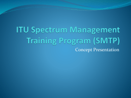 Spectrum Management Certified Program Course