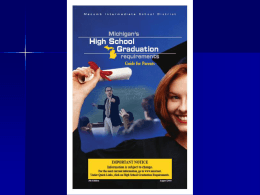 Michigan's New High School Graduation Requirements