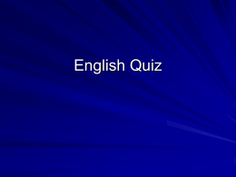 English Quiz - Northern Arizona University