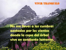 VIVIR TRANQUILO