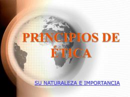 PRINCIPIOS DE ETICA - Gobierno del Estado de Sonora