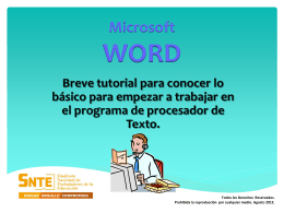 TRABAJAR EN POWER POINT