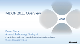 MDOP 2011 Overview - Microsoft Partner Network | …