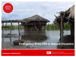 Shelter in disaster response
