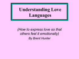 Understanding Love Languages