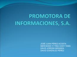 PROMOTORA DE INFORMACIONES, S.A.