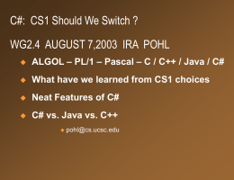 C# - day 1 - Jack Baskin School of Engineering