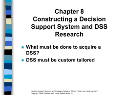 Chapter 8 Constructing a Decision Support System and …
