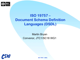 ISO 19757 – Document Schema Description Languages …