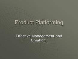 Product Platforming