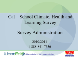 California Health Kids & California School Climate