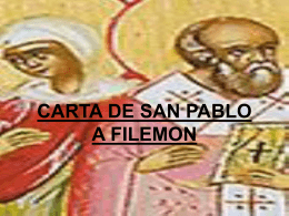 CARTA A FILEMON - Parroquia del Perpetuo Socorro