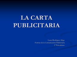 LA CARTA PUBLICITARIA